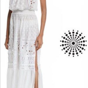 Rant Brook Isadora Cotton - Silk Strapless Dress.